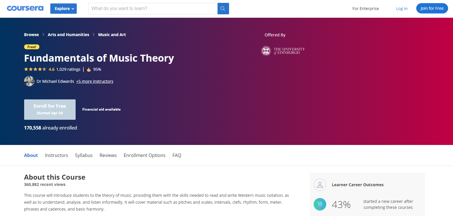 Coursera Music Courses